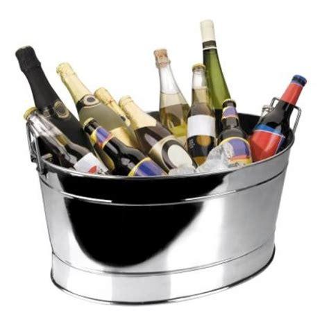 vasque  champagne bassine ovale en inox