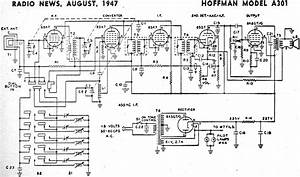 Hoffman Model A301 Schematic  U0026 Parts List  August 1947