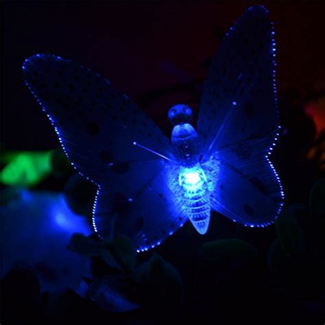 inst solar fiber optic butterfly string lights new ebay