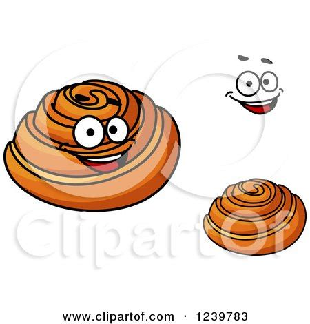 cartoon rolls royalty free rf clipart of cinnamon rolls illustrations