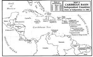 Black and White Printable Map Caribbean