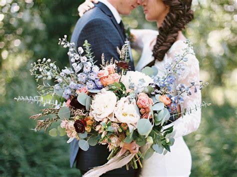 Raspberry and mint bohemian wedding bouquets. Country-Bohemian Montana Wedding: Hayley + Daniel   Green ...