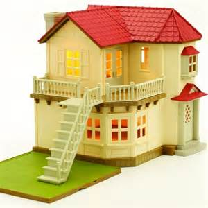 cottage kitchen furniture sylvanian families city house with lights store petit