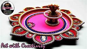 DIY : How to make Decorated Thali Handmade thali puja