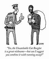 Burglar Cat Cartoon Drawing Nickname Uncatchable Cartoons Tom Chitty Paintingvalley Crime Police Drawings Comics sketch template