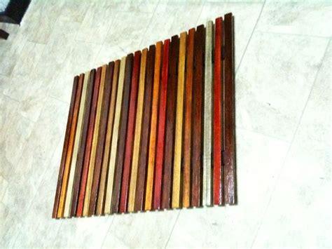 easy wooden slat mat wall art
