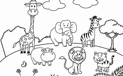 Coloring Scenery Pages Playground Scene Drawing Printable