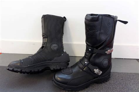 best motorcycle track boots rst adventure visordown