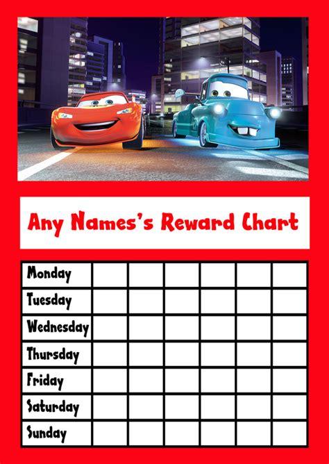 cars star sticker reward chart reward chart kids