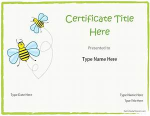 blank certificate blank certificate template for kids With free educational certificate templates