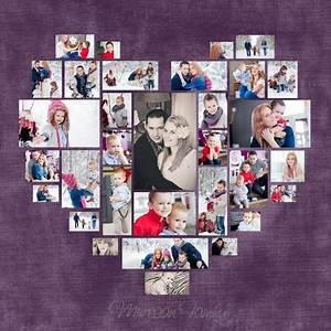 Bilder Collage Basteln : heart photo collage template psd wedding gift anniversary gift valentine 39 s day gift gift for ~ Eleganceandgraceweddings.com Haus und Dekorationen