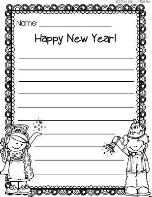 new year s writing paper freebie new years activities second grade writing writing paper
