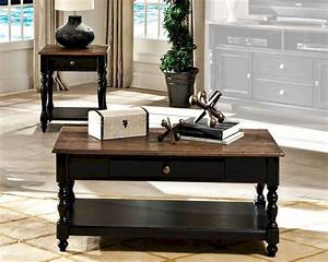 Intercon solid wood coffee table set gramercy park for Oak wood coffee table sets