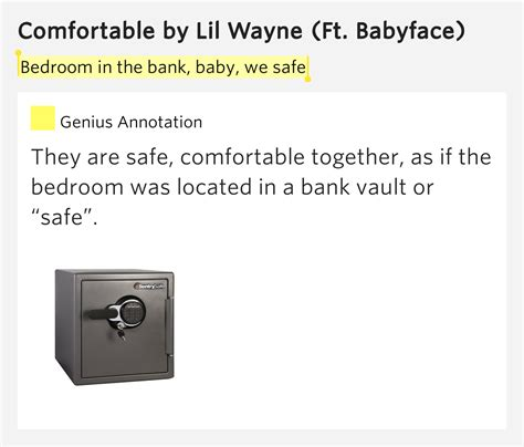 Banks Bedroom Wall Lyrics Meaning by Bedroom In The Bank Baby We Safe Comfortable Lyrics