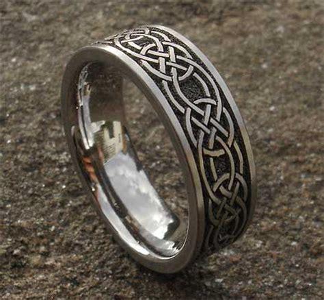 celtic knot titanium ring  men lovehave   uk