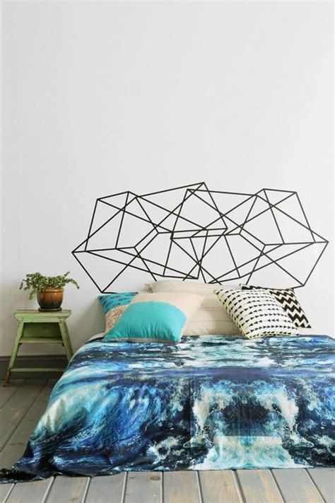 trendy  eye catching geometric bedroom decor ideas
