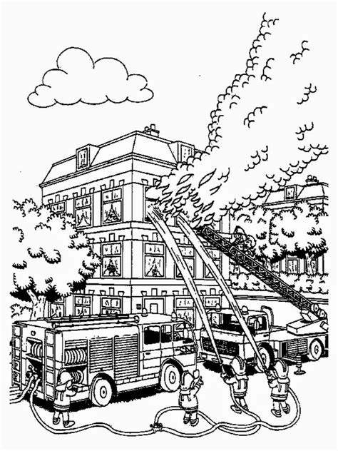 firefighter coloring pages  print realistic coloring pages