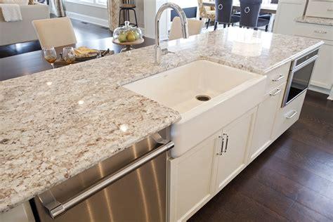 Granite Countertops. Oversized Kitchen Island With Plenty