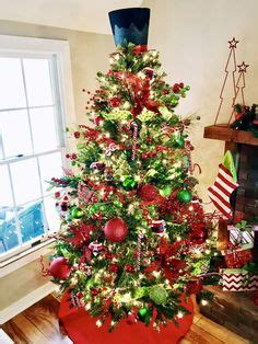 lime green  red decorated christmas trees google