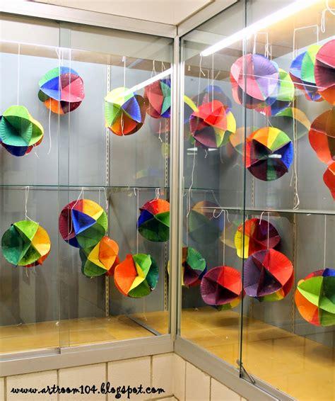Art Room 104 5th Grade 3d Color Wheel Display