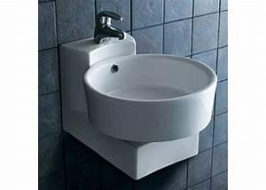 Lave Main Suspendu : lave main rond suspendu lave main rond en c ramique lave ~ Nature-et-papiers.com Idées de Décoration
