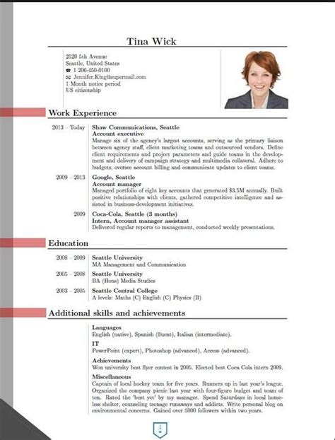 Resumes Formats And Exles by New Cv Format 2016 2 Cv Format New Cv Formats
