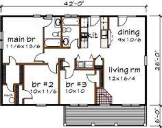 Bungalow Style House Plan 3 Beds 2 Baths 1092 Sq/Ft Plan