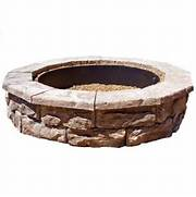 Fossill Stone 60 In Concrete Brown Round Fire Pit KitFSFPB  The Home Depot