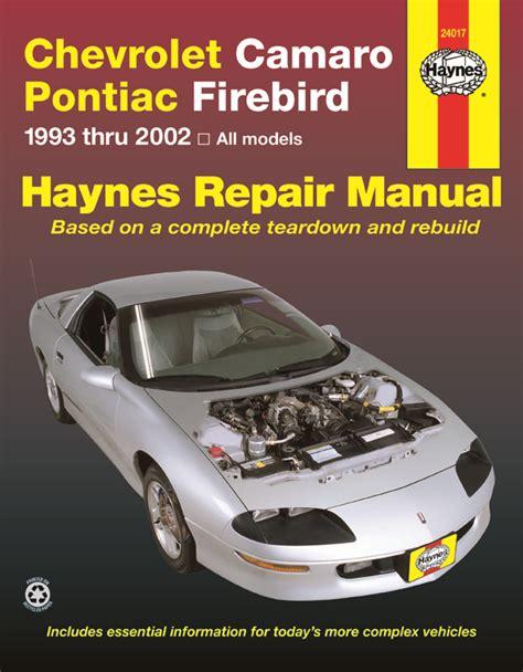 free download parts manuals 2001 pontiac firebird electronic throttle control firebird haynes manuals