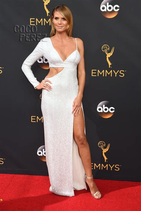 Heidi Klum Shows Off All The Skin Emmys Red Carpet