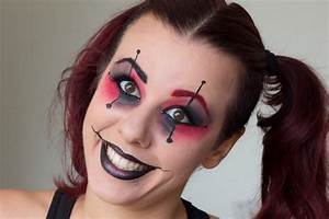 Fall In Love Tag #3: Halloween Harley Quinn makeup | Alice ...