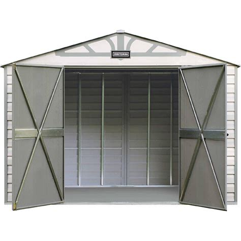 sears sheds 10 x 10 craftsman 10 x 7 vinyl coated steel shed rugged storage