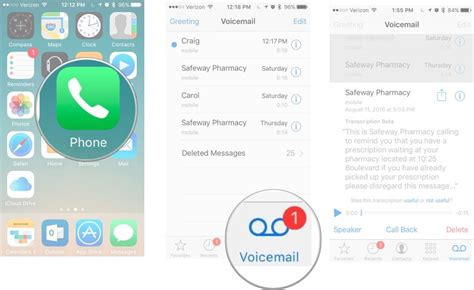 how to use voicemail transcripts on iphone imore