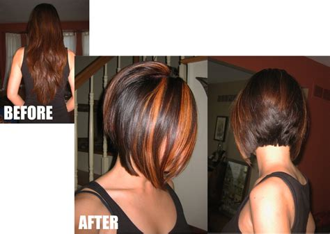 Inverted Bob With Chunky Highlights. Stylist