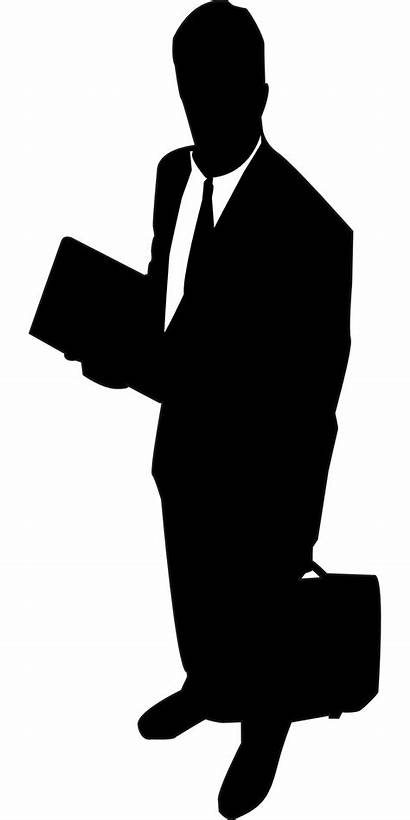 Sales Business Clipart Clip Accountant Rep Silhouette