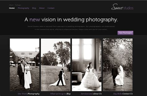 Well Designed Photography Websites 121clickscom