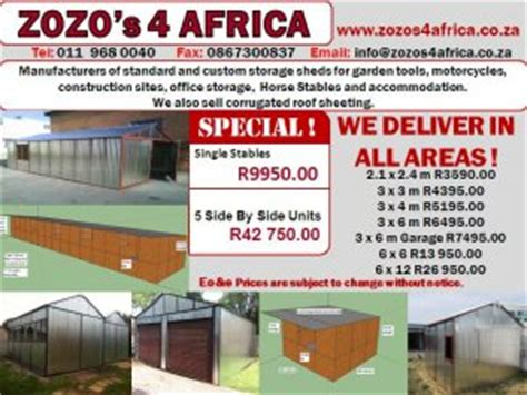 Duramax Sheds South Africa by Portable Buildings