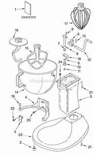 Kitchenaid 5k5sswh Parts List And Diagram