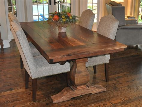 rustic kitchen table rustic weston trestle farmhouse table atlanta ga denver