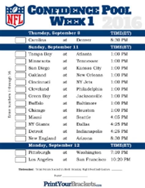 Nfl Office Football Pool Sheets by Football Pools Printable Nfl Ncaa Office Pools