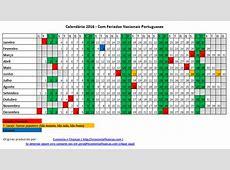 Calendário 2016 para impressão em Excel Economia e Finanças