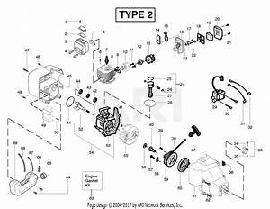 Poulan Featherlite Plus Le Gas Trimmer Type 2 Parts Diagram For Engine Assembly Type 2