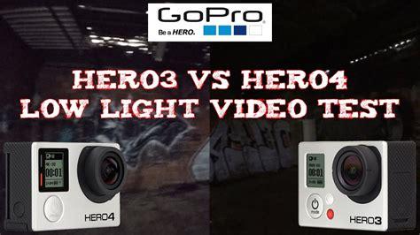 (review) Gopro Hero3 Vs Hero4  Low Light Video Test Youtube
