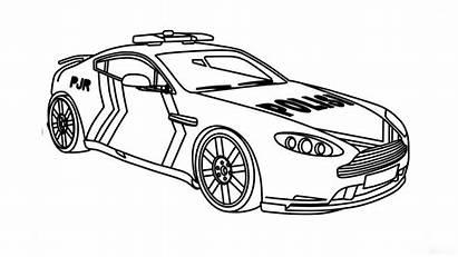 Mewarnai Gambar Mobil Polisi Untuk Belajar Coloring