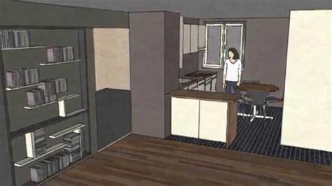 plaque cuisine dessiner une cuisine sketchup