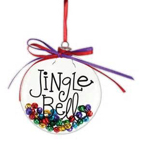 jingle bells flat disc ornament crafts direct