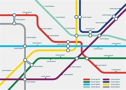 Map Tube Template Vector Illustration Underground London
