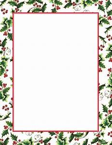 free christmas letter borders geographicsr holly ivy With letter frame design