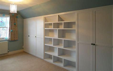 eaves wardrobe  bookshelf built  bookshelves