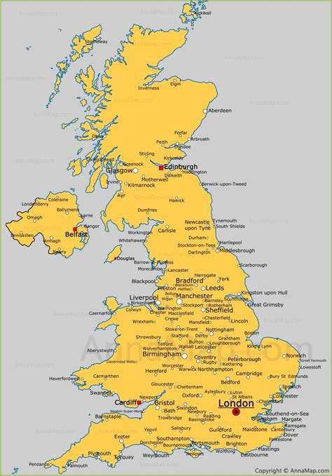 Carte Angleterre Grandes Villes by United Kingdom Cities Map Cities And Towns In Uk